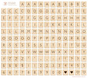 Printables scrabble tiles printables for scrapbooking for Party wall letter template