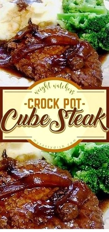 Steak Recipes Ideas | Crock Pot Cube Steak images