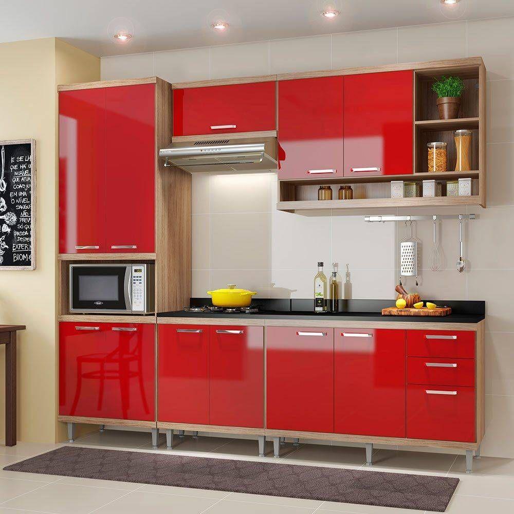 Kit Cozinha 6 M Dulos Com Tampo Multim Veis Sicilia 5809 Argila
