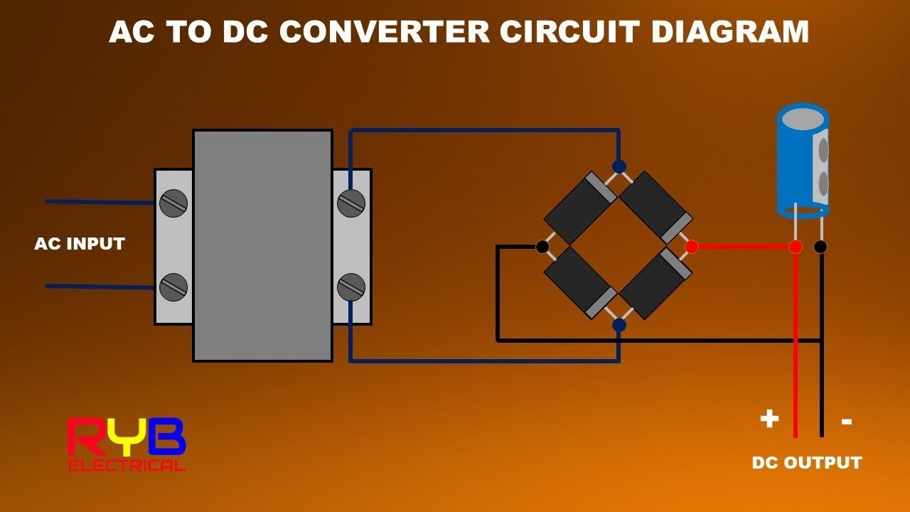 How To Make Ac To Dc Converter At Home How To Make Ac Acdc Converter