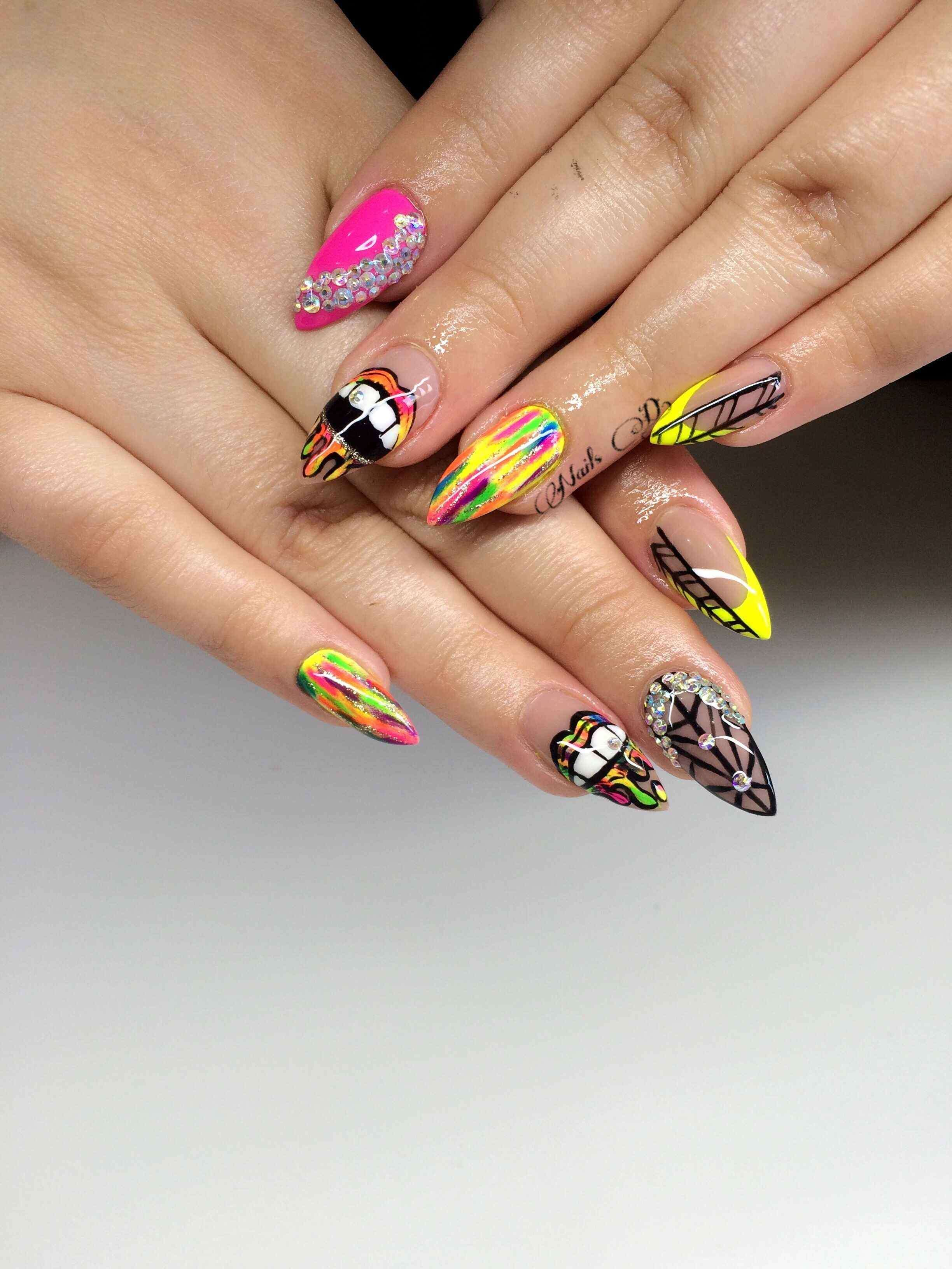 Stiletto Nail Art Crazy Inspiratons With Images Simple Nail
