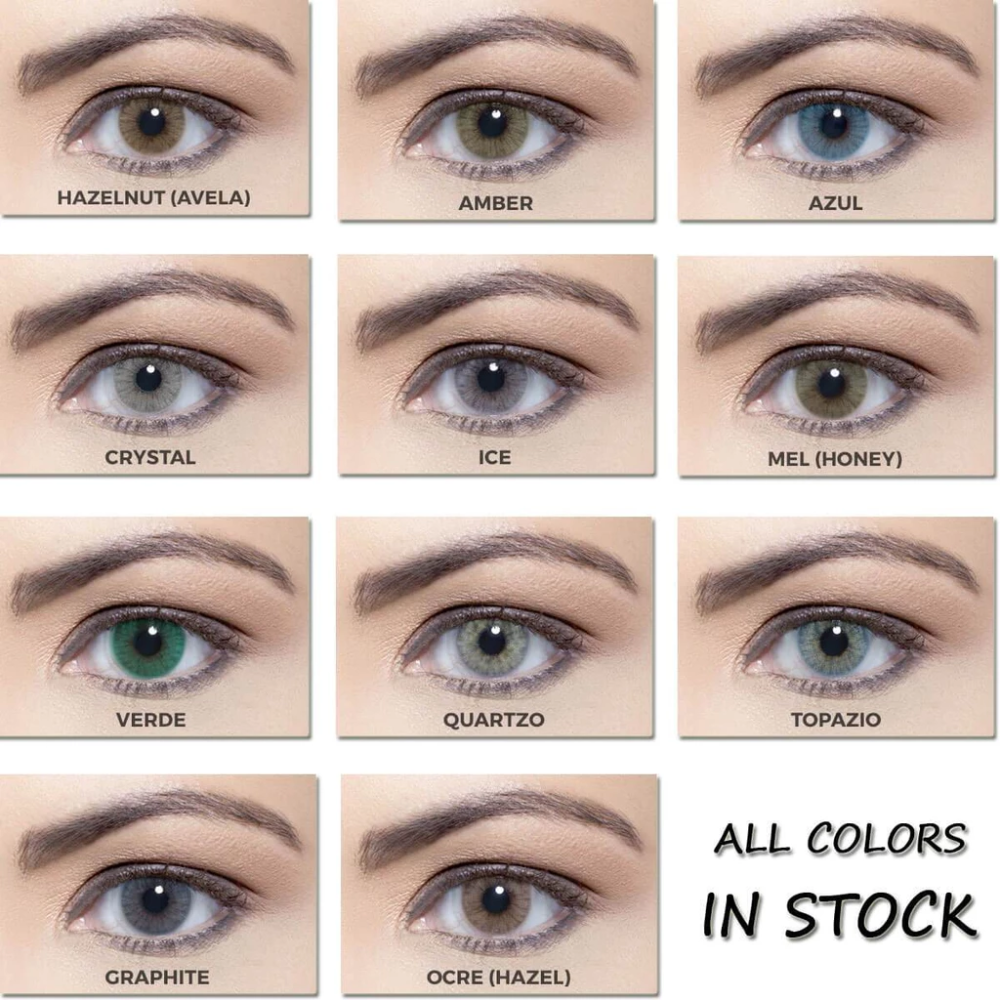 Topaz Prescription Yearly Colored Contacts Colored Contacts Contact Lenses For Brown Eyes Contact Lenses Colored
