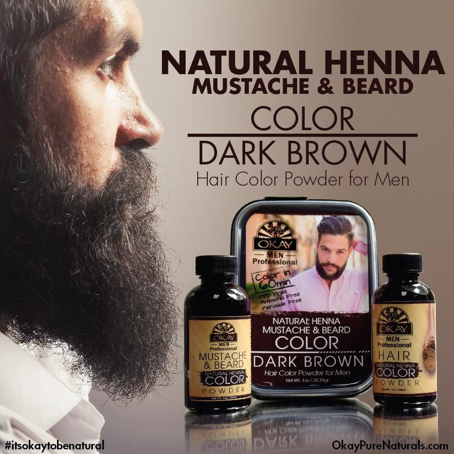 COMING SOON: OKAY Men\'s Professional Natural Henna mustache and ...