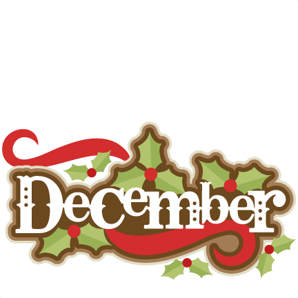 December Title SVG scrapbook cut - 36.5KB