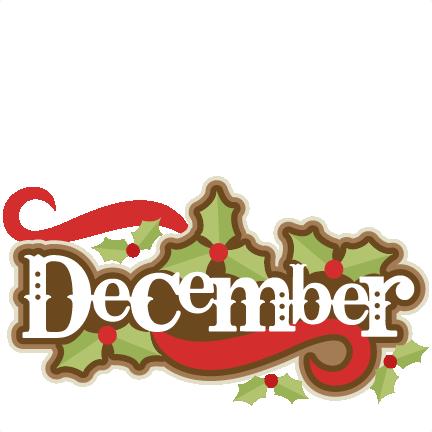 December Title SVG scrapbook cut - 36.5KB