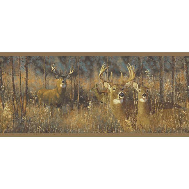 York Wallpaper WG0346BD Border Portfolio II White Tail