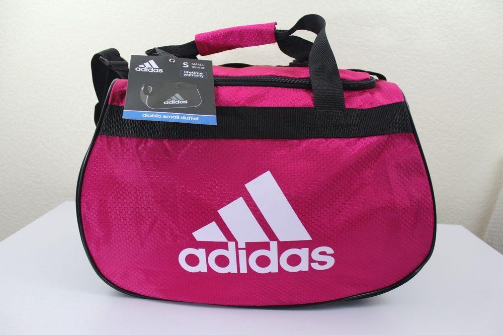 0bcebceb2c adidas diablo small duffel sport gym bag women pink 18.5