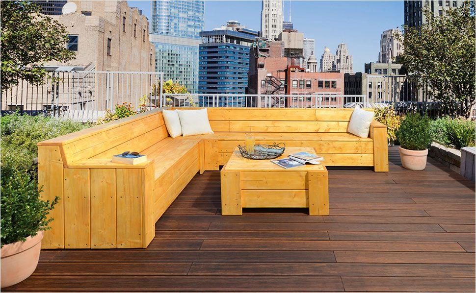 Sitzecke Fur Ihre Terrasse Bauen Eckbank Selber Bauen Gartenlounge Selber Bauen Garten Lounge