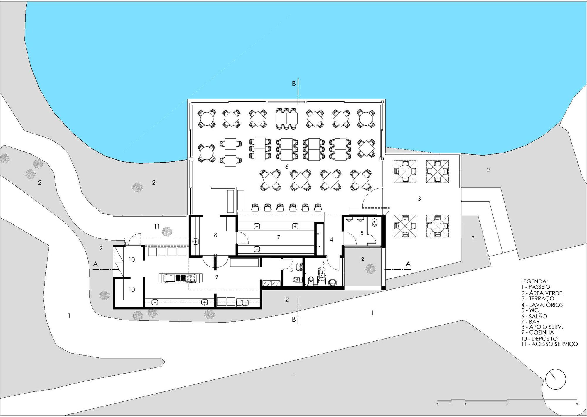 Galeria De Restaurante Do Lago Mass Arquitetura E Norea De Vitto