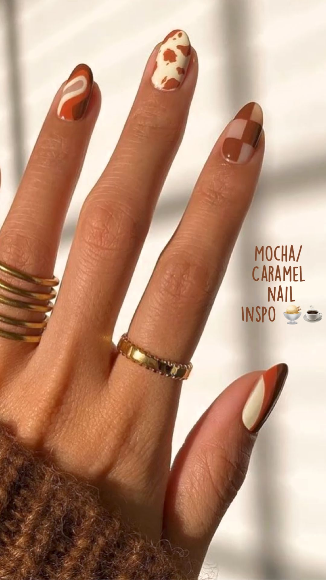 Mocha/ Caramel  nail  Inspo 🍨☕️