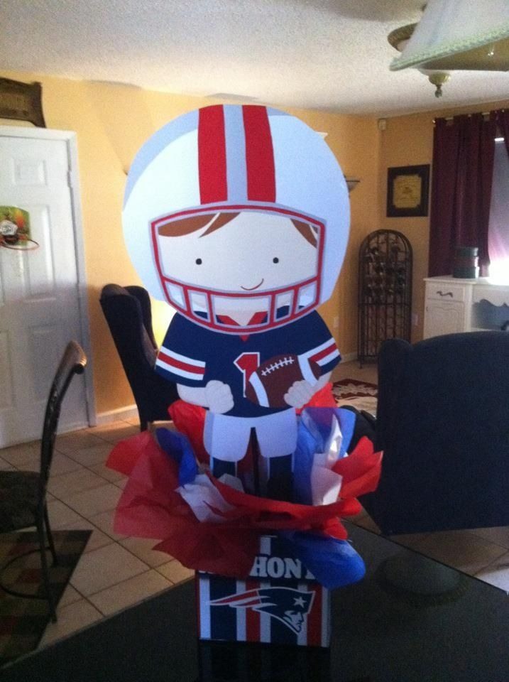 Patriots Football Birthday Party Centerpieces Party