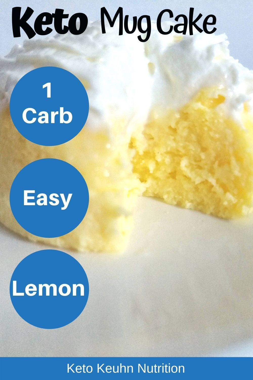 Keto Lemon Cake in a Mug   Recipe   Diet cheesecake recipe ...