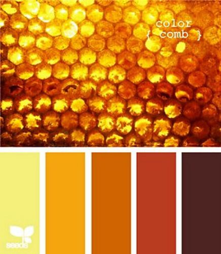 Honeycomb Colors Shades Of Amber Mustard Rust Gold And