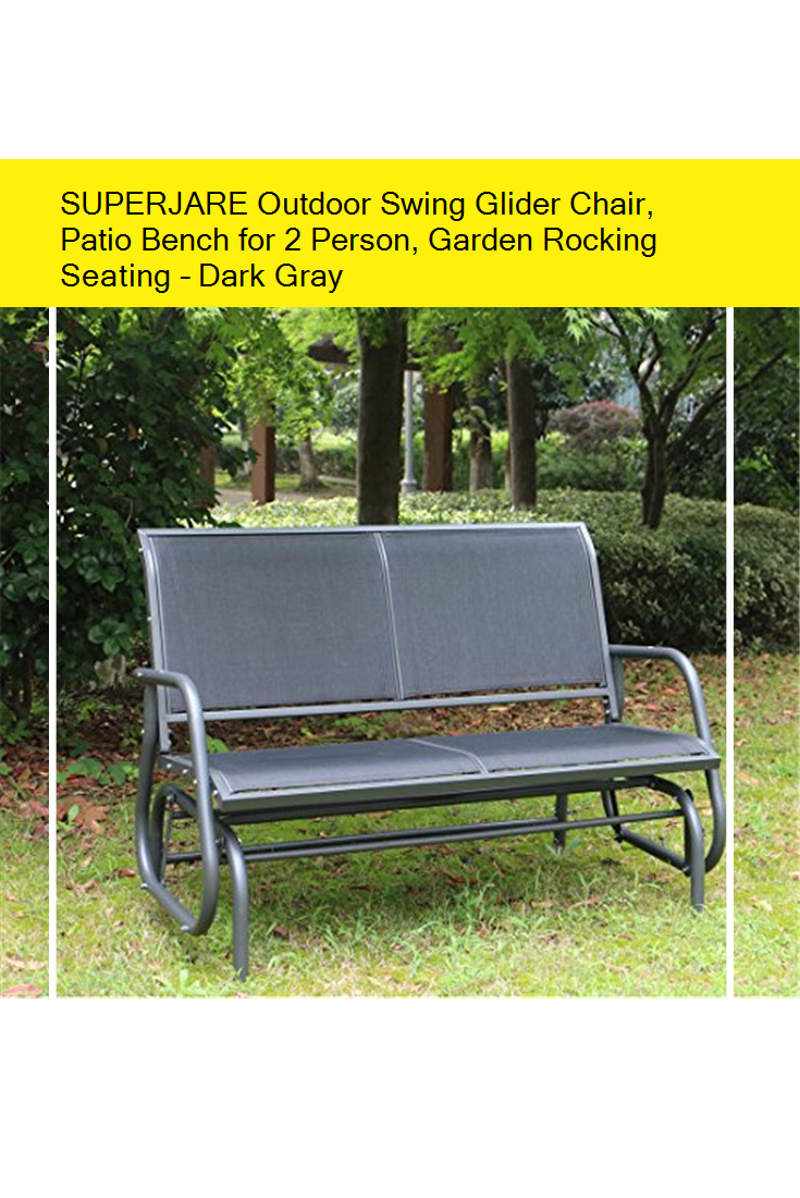 1d0a50c3cc3 SUPERJARE Outdoor Swing Glider Chair