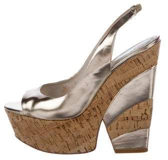 discount for nice cheap online store Alice + Olivia Metallic Wedge Pumps V0vVxBxFL8