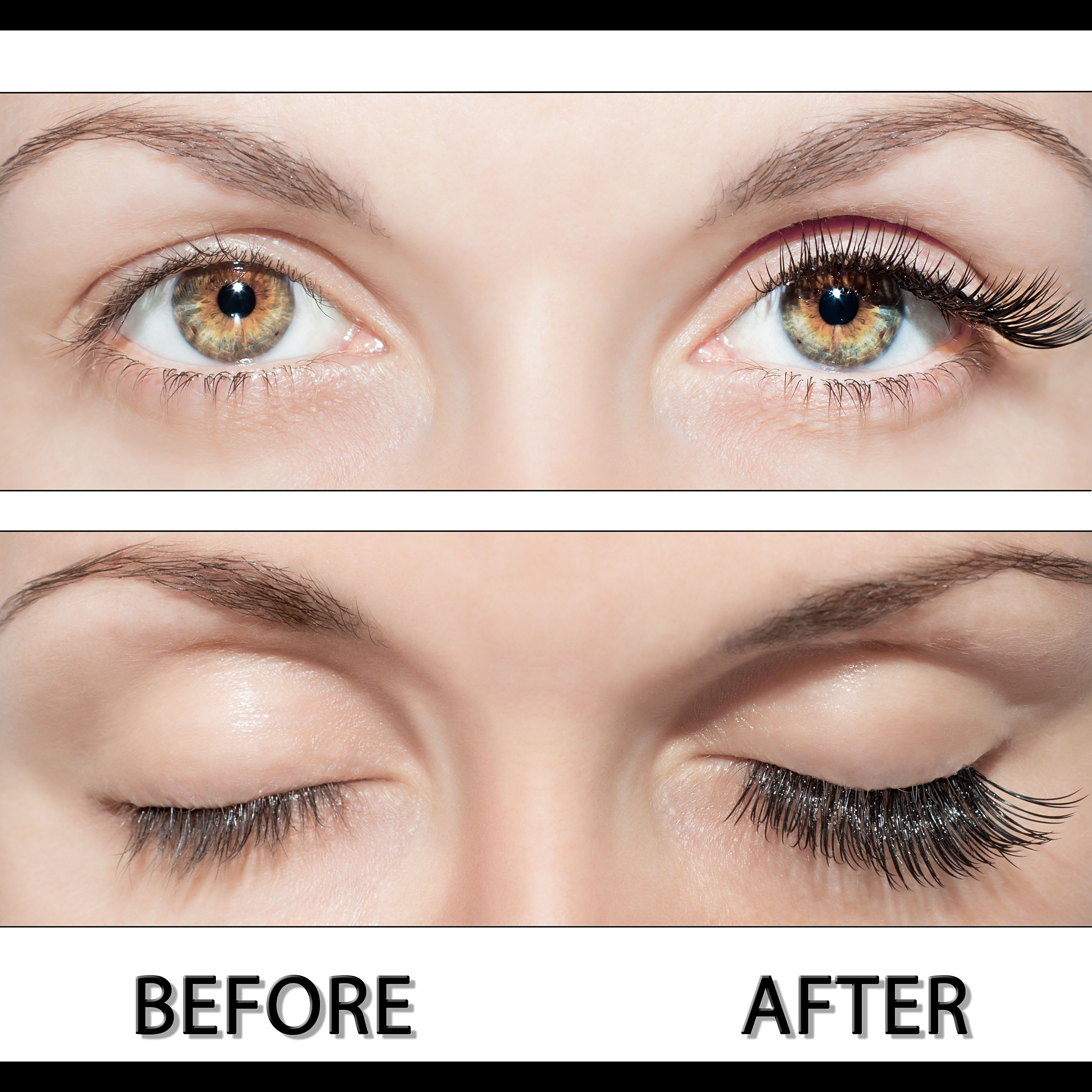 EXTENSION CIGLIA BEFORE AND AFTER PERFECT SILK LASHES