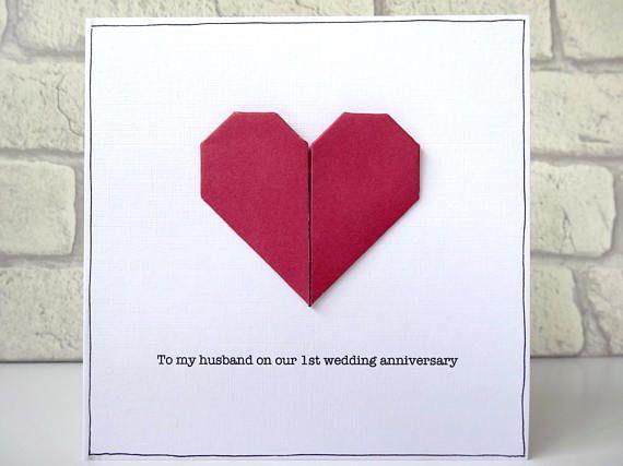 1st Wedding Anniversary Card Paper Anniversary Wedding Anniversary Cards Paper Anniversary 1st Wedding Anniversary