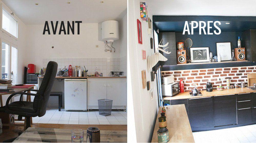 Avant / après : des astuces récup\' et DIY pour aménager un studio ...