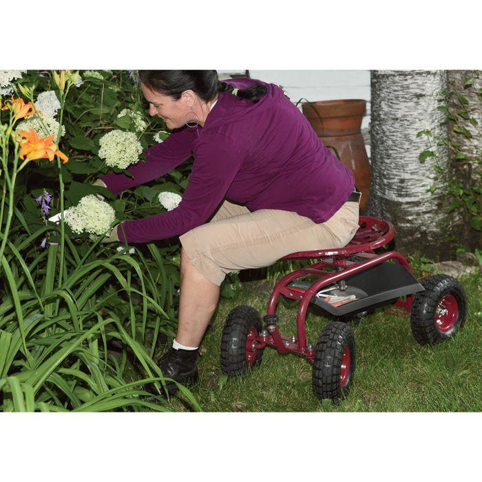 Ironton Rolling Garden Seat With Turnbar Garden Seating Perfect