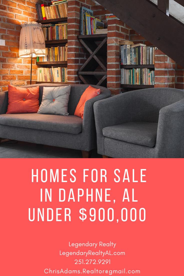 Houses For Sale In Daphne, Alabama Under $900,000.  Www.LegendaryRealtyAL.com 251 272 9291 ChrisAdams.Realtor@gmail.com  #AlabamaRealEstate