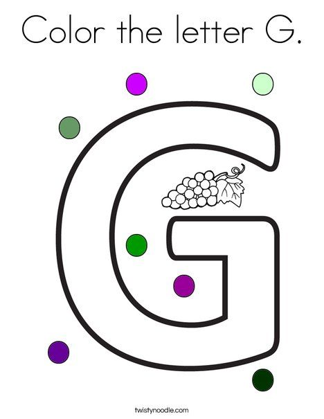 color the letter g coloring page twisty noodle letter coloring pages worksheets and mini. Black Bedroom Furniture Sets. Home Design Ideas