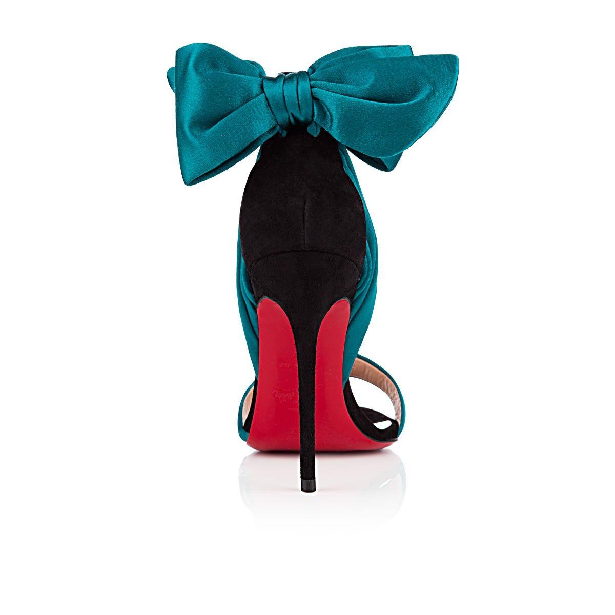 reputable site 3e516 eee8c wholesale louboutin vampanodo satin bow sandals