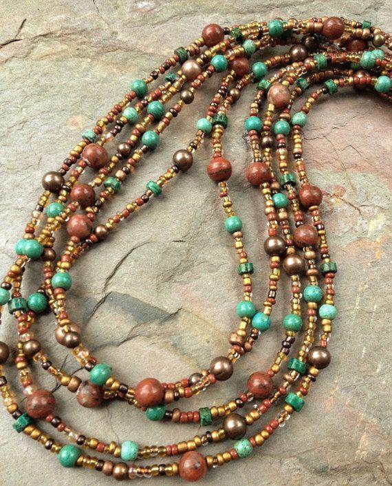 Photo of Boho Hoop Earrings Boho Jewelry Natural Stone Earrings Boho Chic Jewelry Hammered Copper Earrings Copper Jewelry Colorful Hoop Earrings