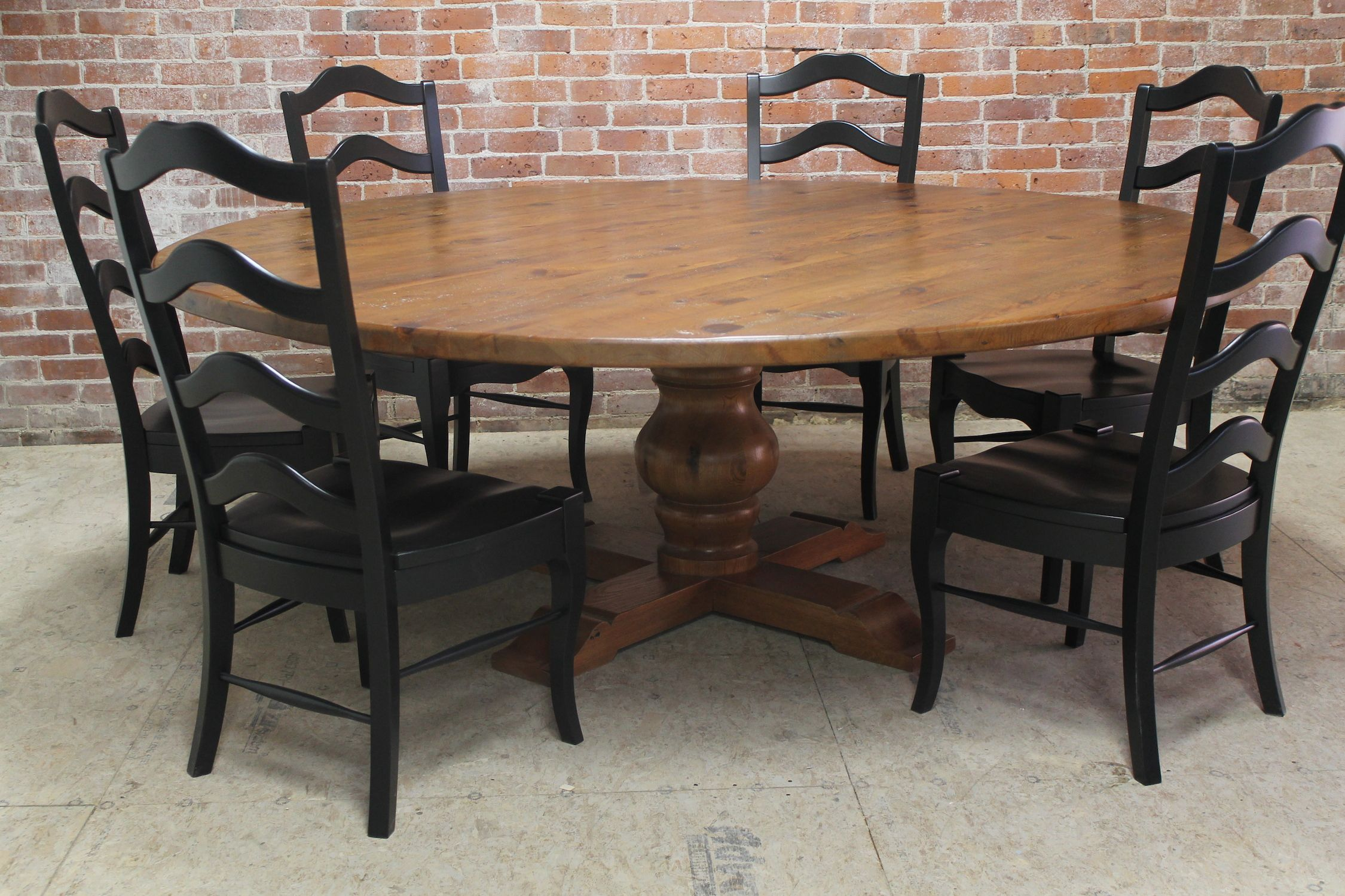 84 round dining table from reclaimed old oak wow by ecustomfinishes com