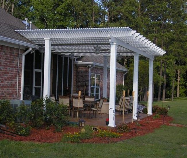 Garden Treasures White Pergola With Luminous Structure