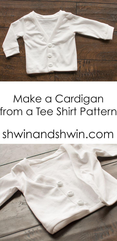 Make a Cardigan from a Tee Shirt Pattern | A Modern Thread ...