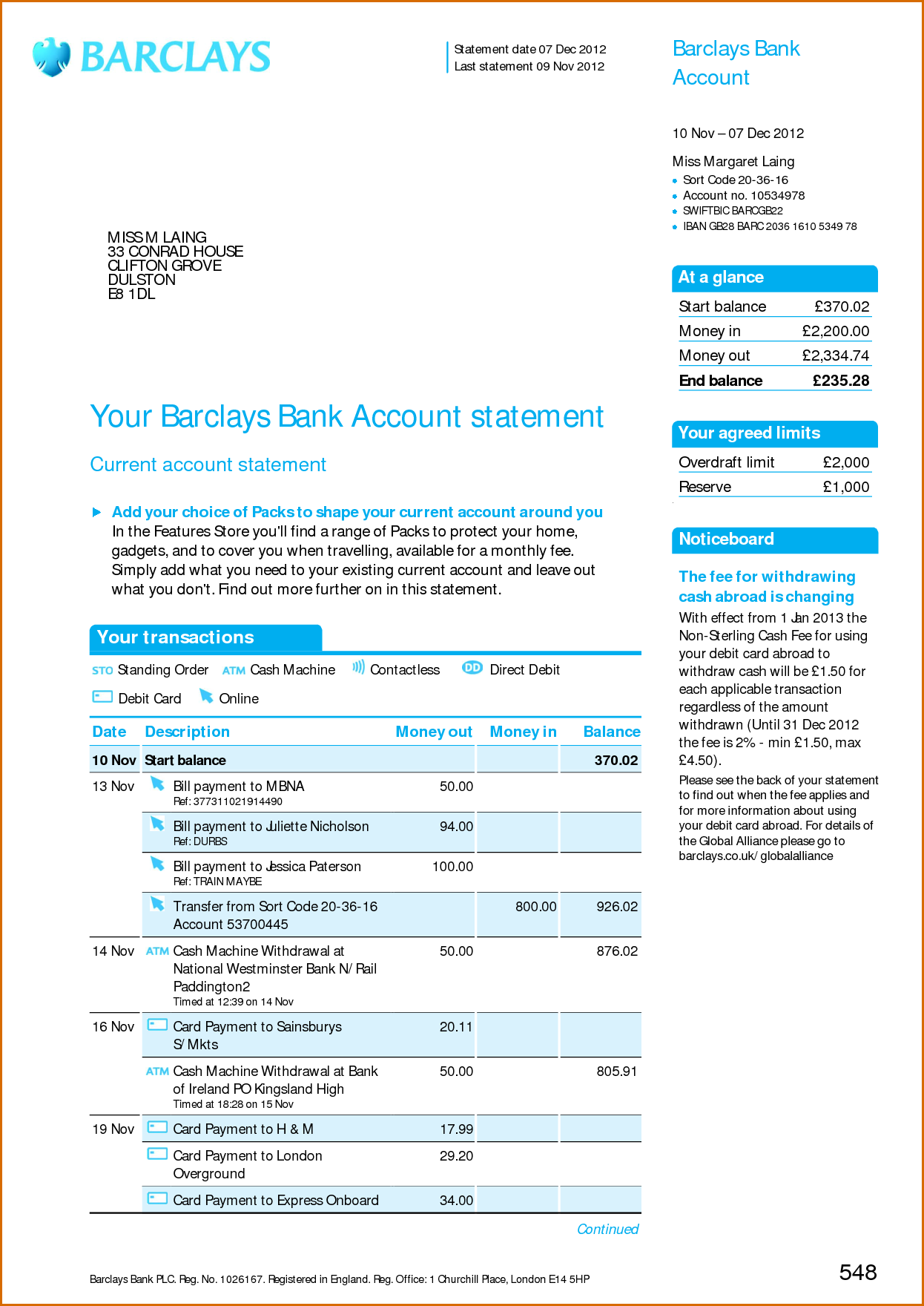 fake barclays bank statement template - viewing gallery for bank account statement i 39 d