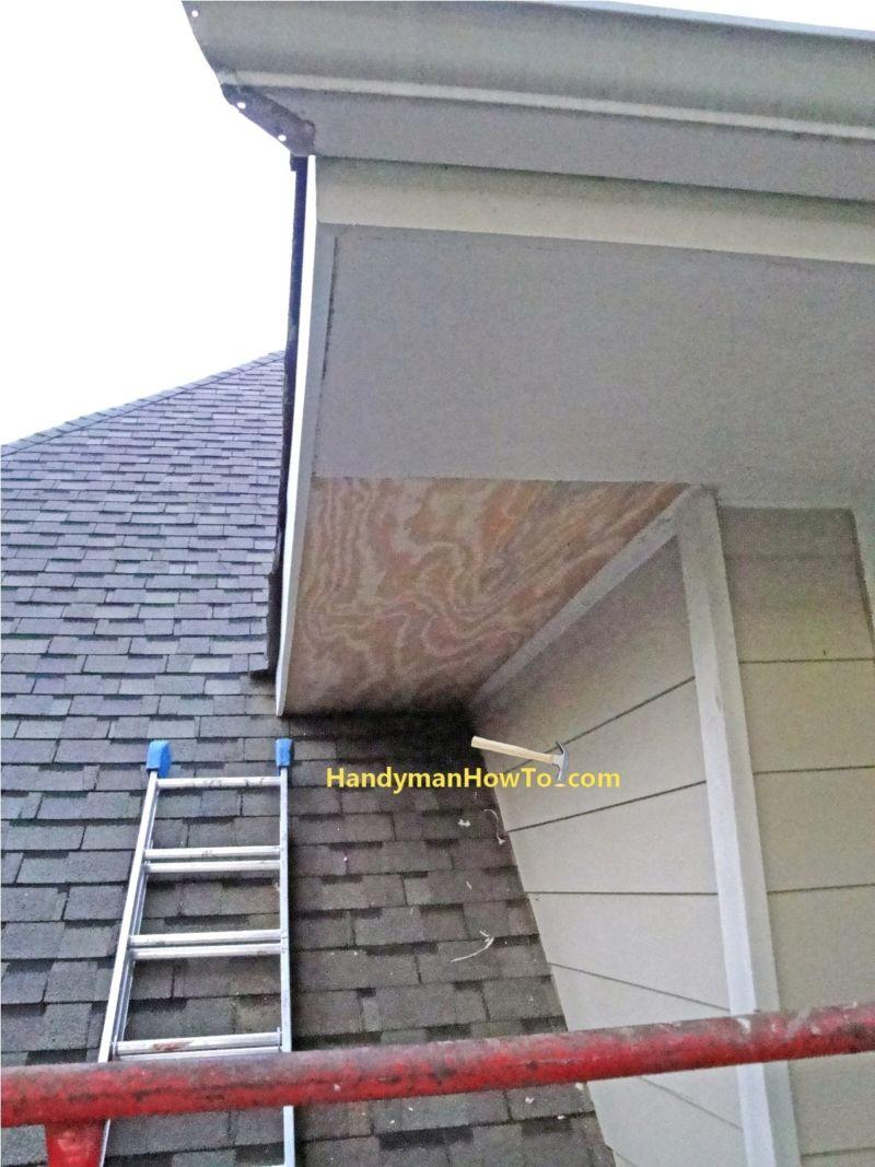 Replace Rotted Fascia Tuff Board Pvc Fascia Installed Porch Repair Wood Repair Foundation Repair