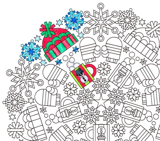 Cold Comforts winter mandala coloring page PDF Mandala
