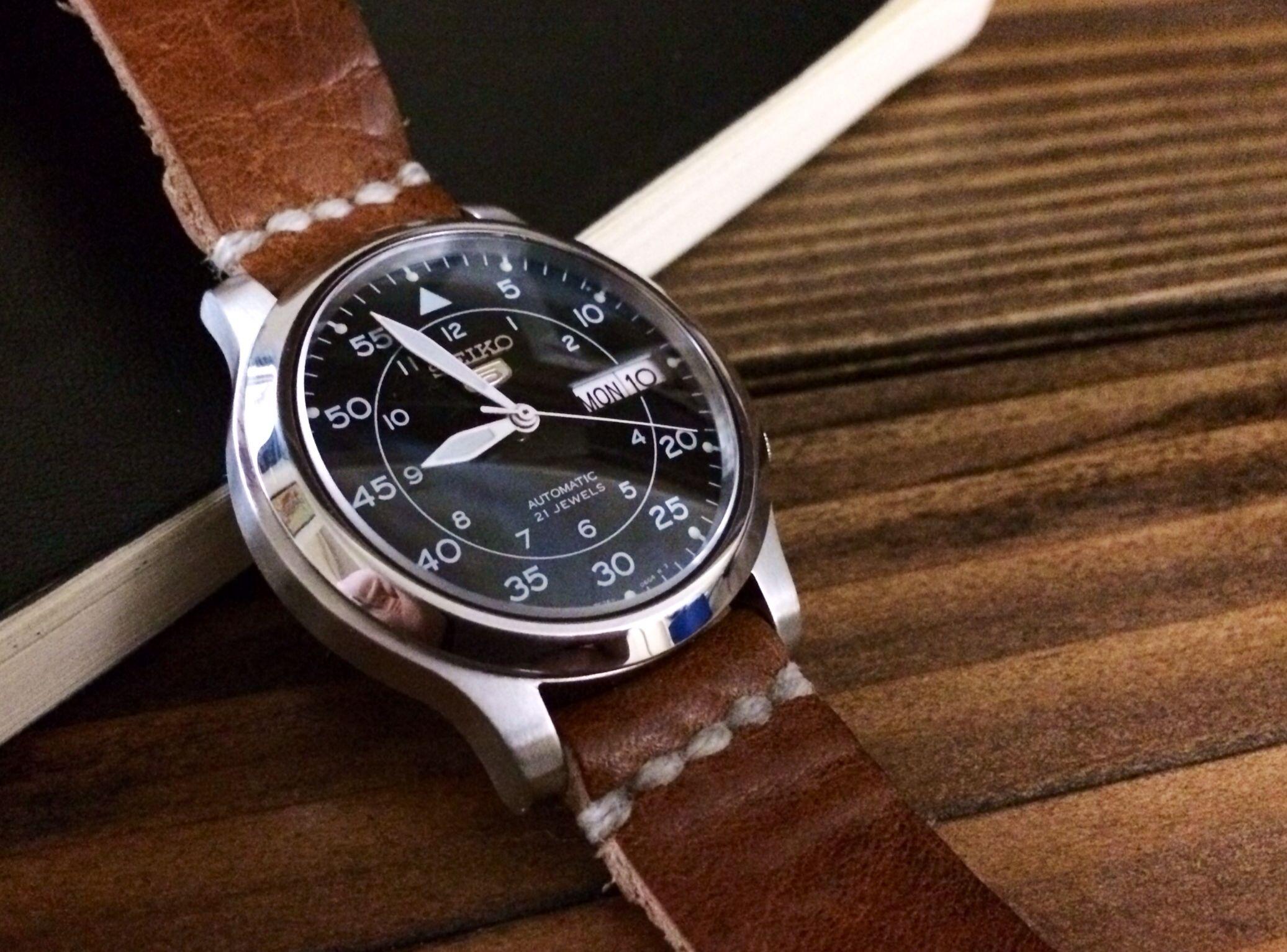 a9abf7163 Custom Seiko 5 pilot watch. | Watches in 2019 | Seiko pilot watch ...