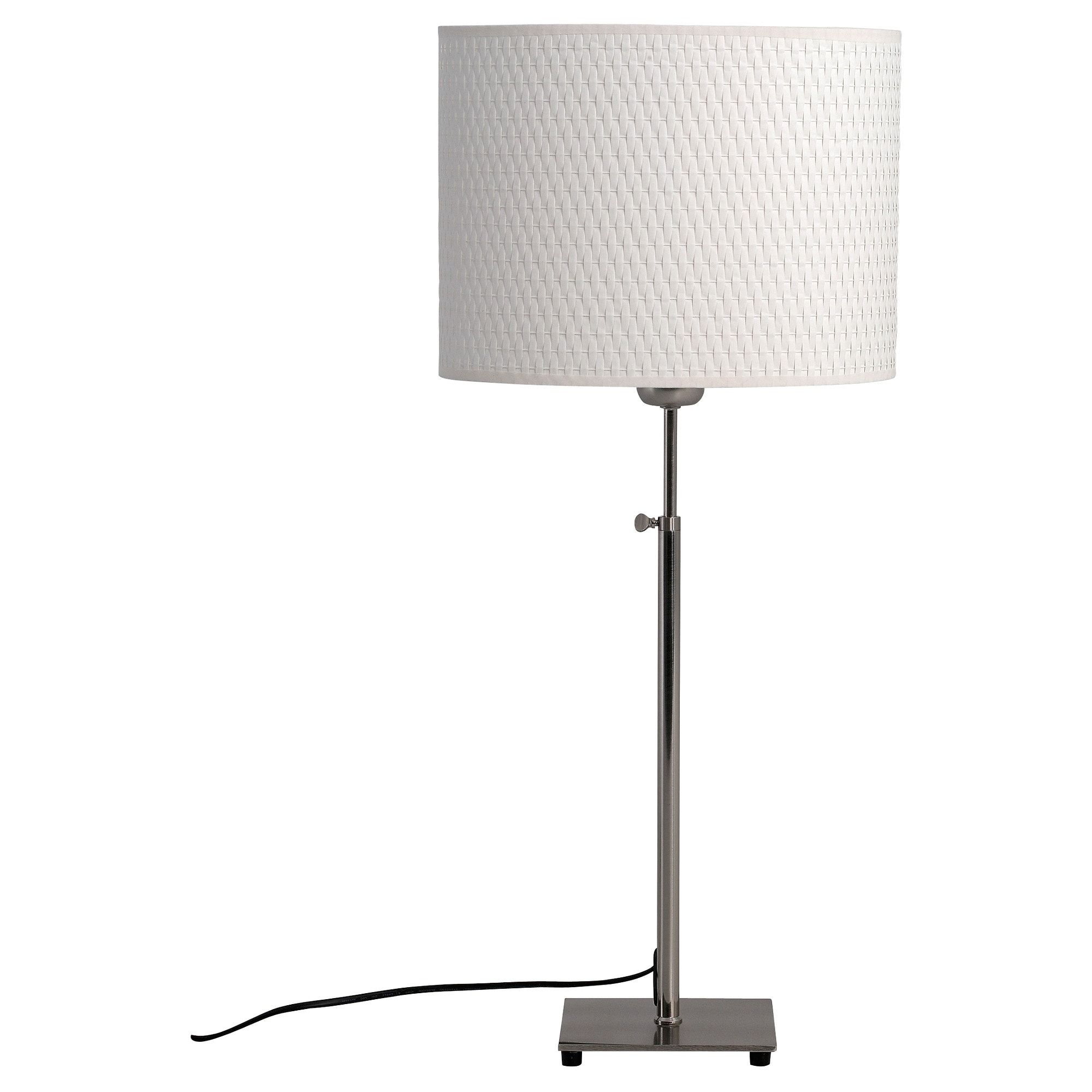 ALÄNG Table lamp with LED bulb nickel plated, white