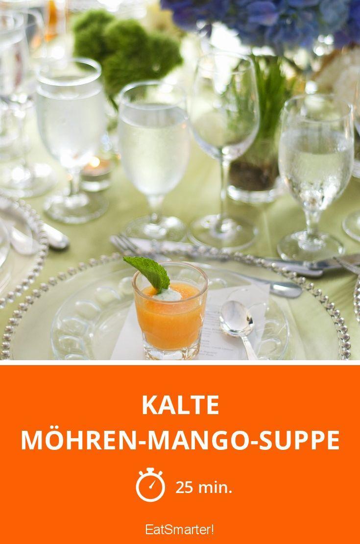 Kalte Möhren-Mango-Suppe