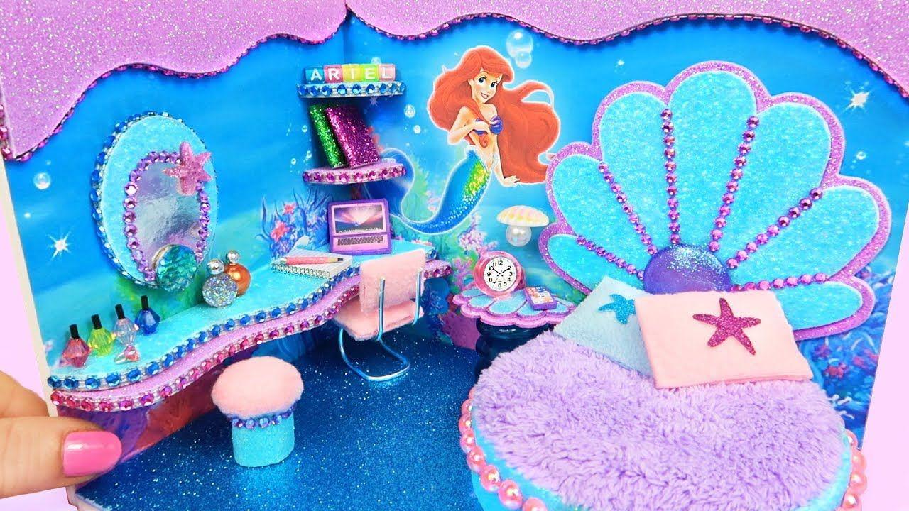 DIY Habitación en Miniatura de La Sirenita Ariel ...