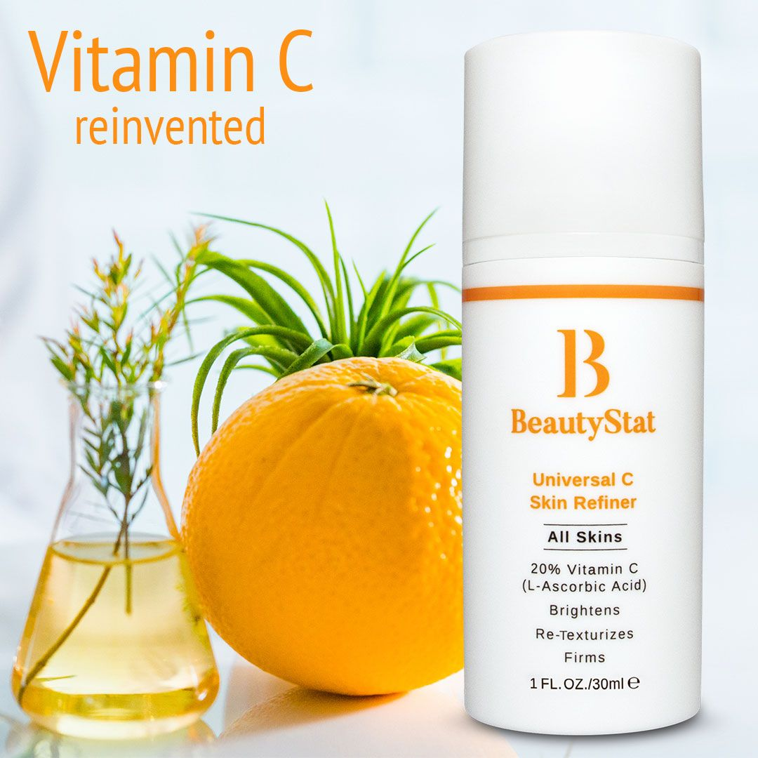 Beautystat Cosmetics Universal C Skin Refiner Pure Patented Stable 20 Review Ingredients Skincare Serum Best Beautystat Com All Vitamins Drugstore Skincare Skin Care