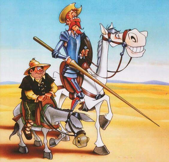 Don Quijote Otra Divertida Caricatura Quijote De La