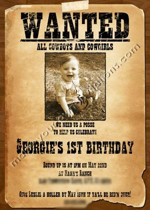 Cowgirl party wanted poster party ideas pinterest western themed parties boys and cowboy for Wanted poster ideas