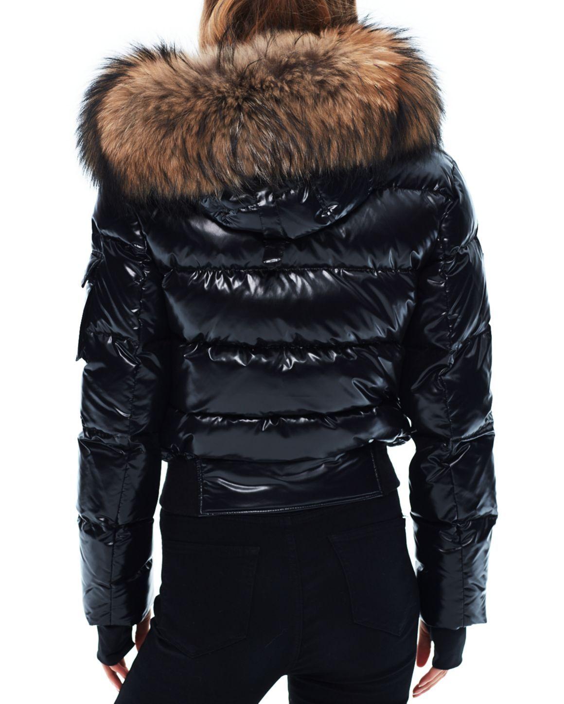 Sam Skyler Fur Trim Short Down Coat Fur Hood Jacket Puffer Jacket Women Puffer Coat [ 1450 x 1160 Pixel ]