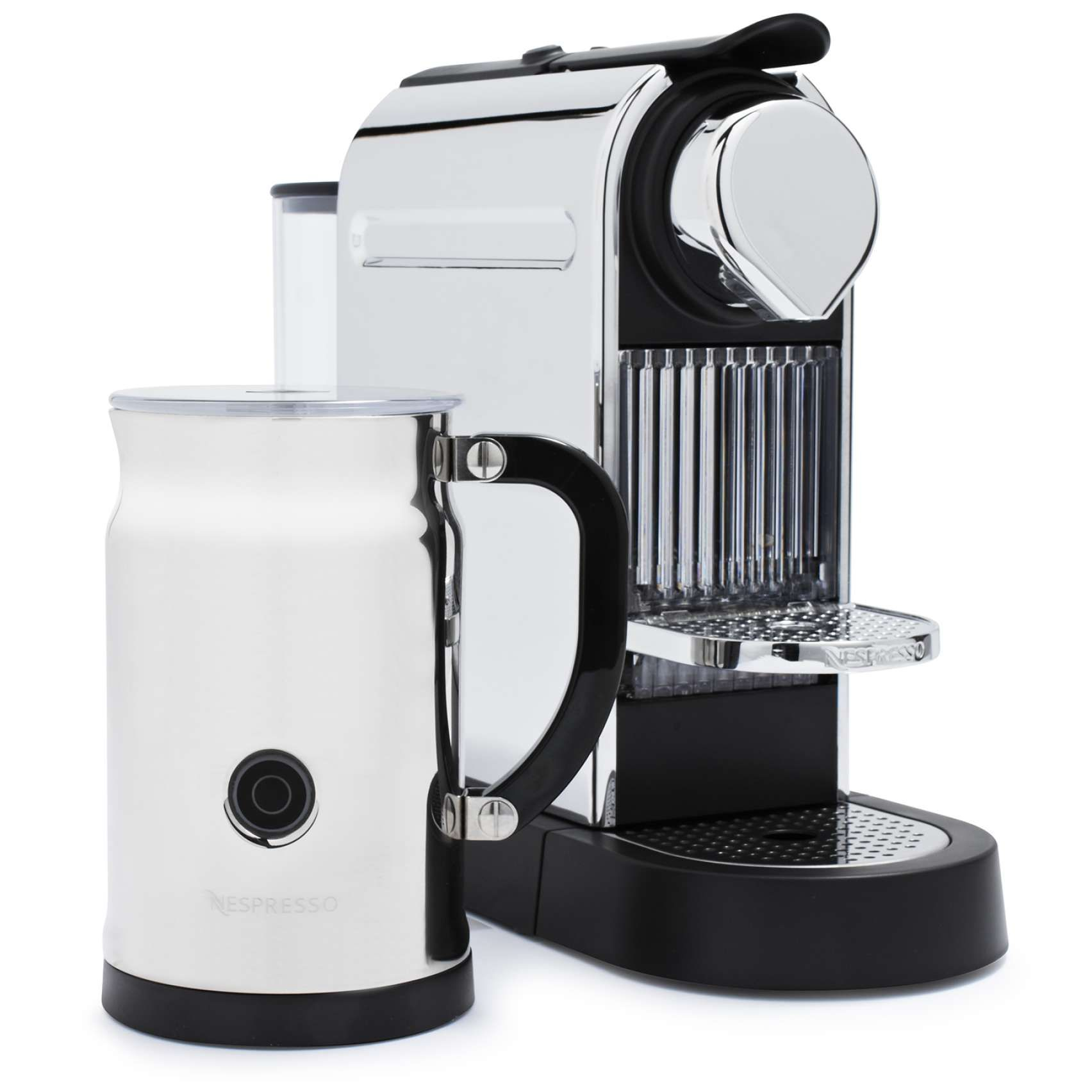 Nespresso® CitiZ & Milk Espresso Machine, Chrome Sur La