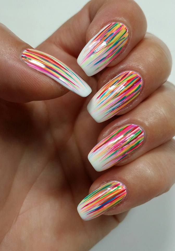 easy cool summer nail art | nail art | Pinterest | Summer nail art ...