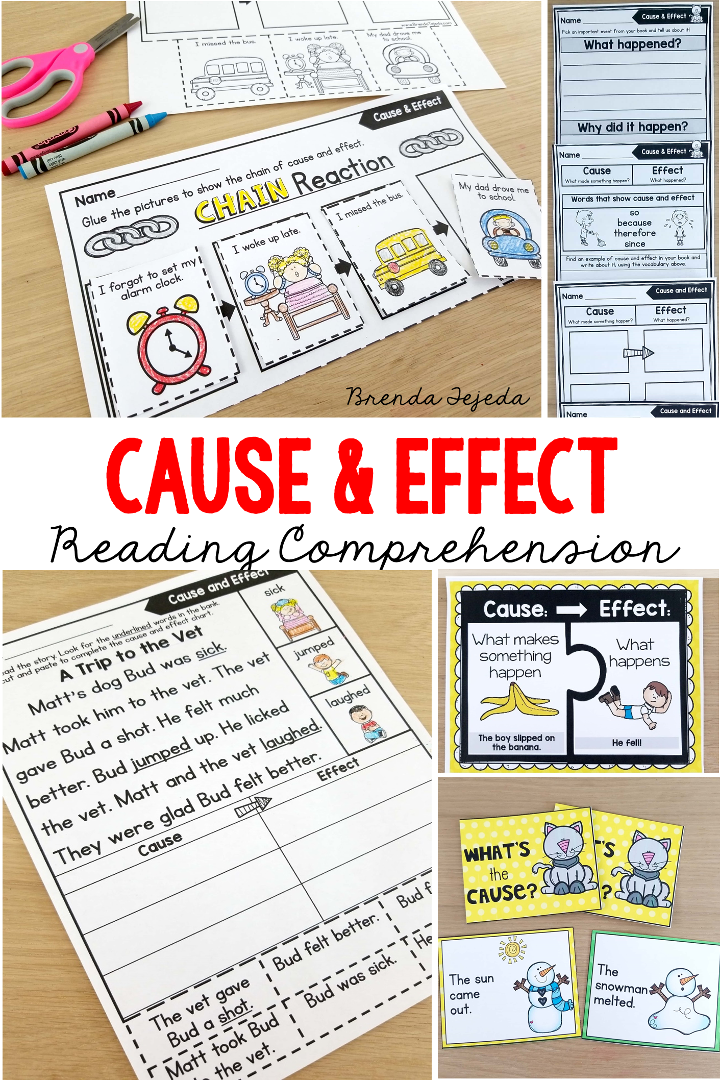 Cause And Effect Comprehension Strategy Bundle