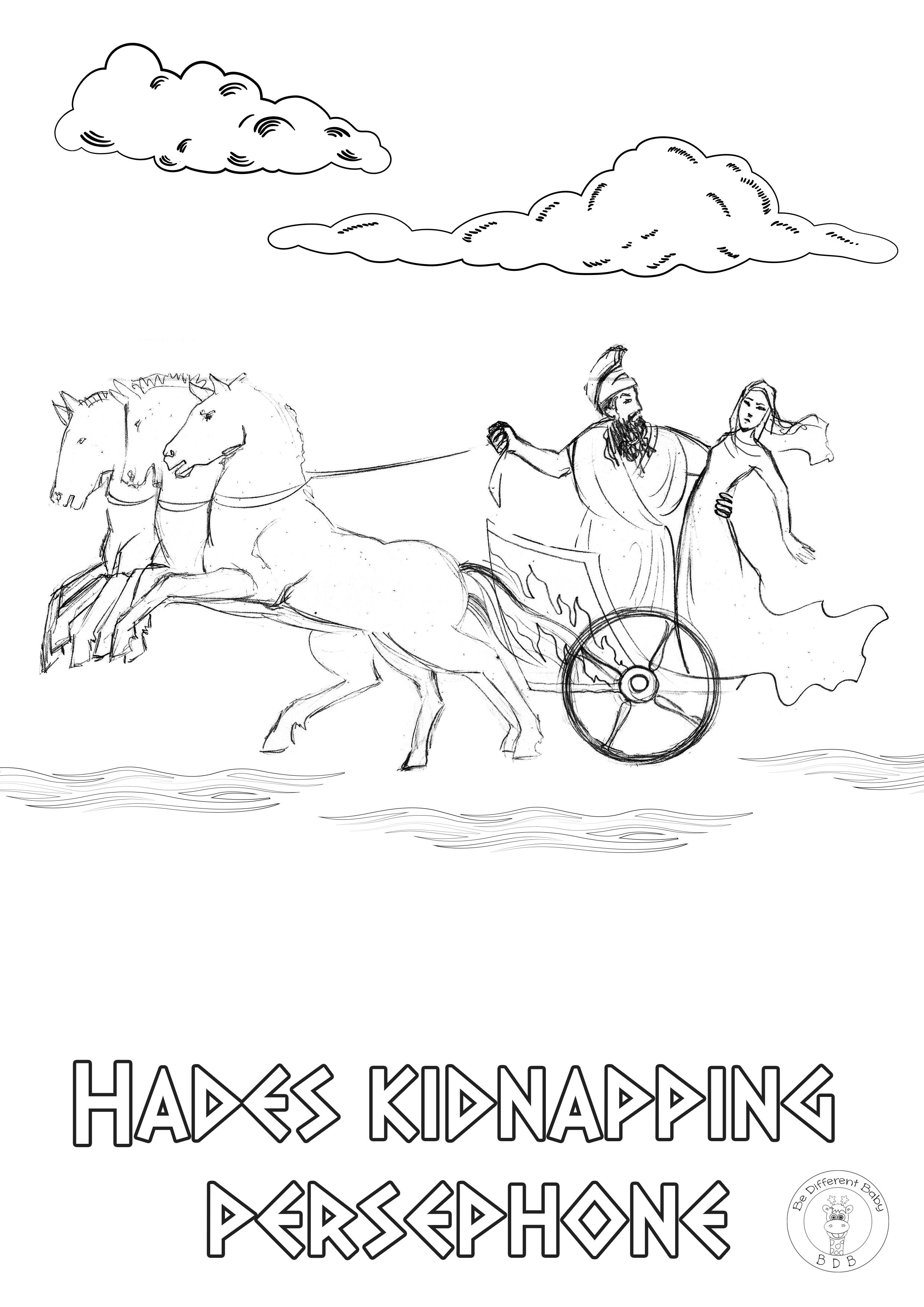 Greek Mythology Coloring Pages In