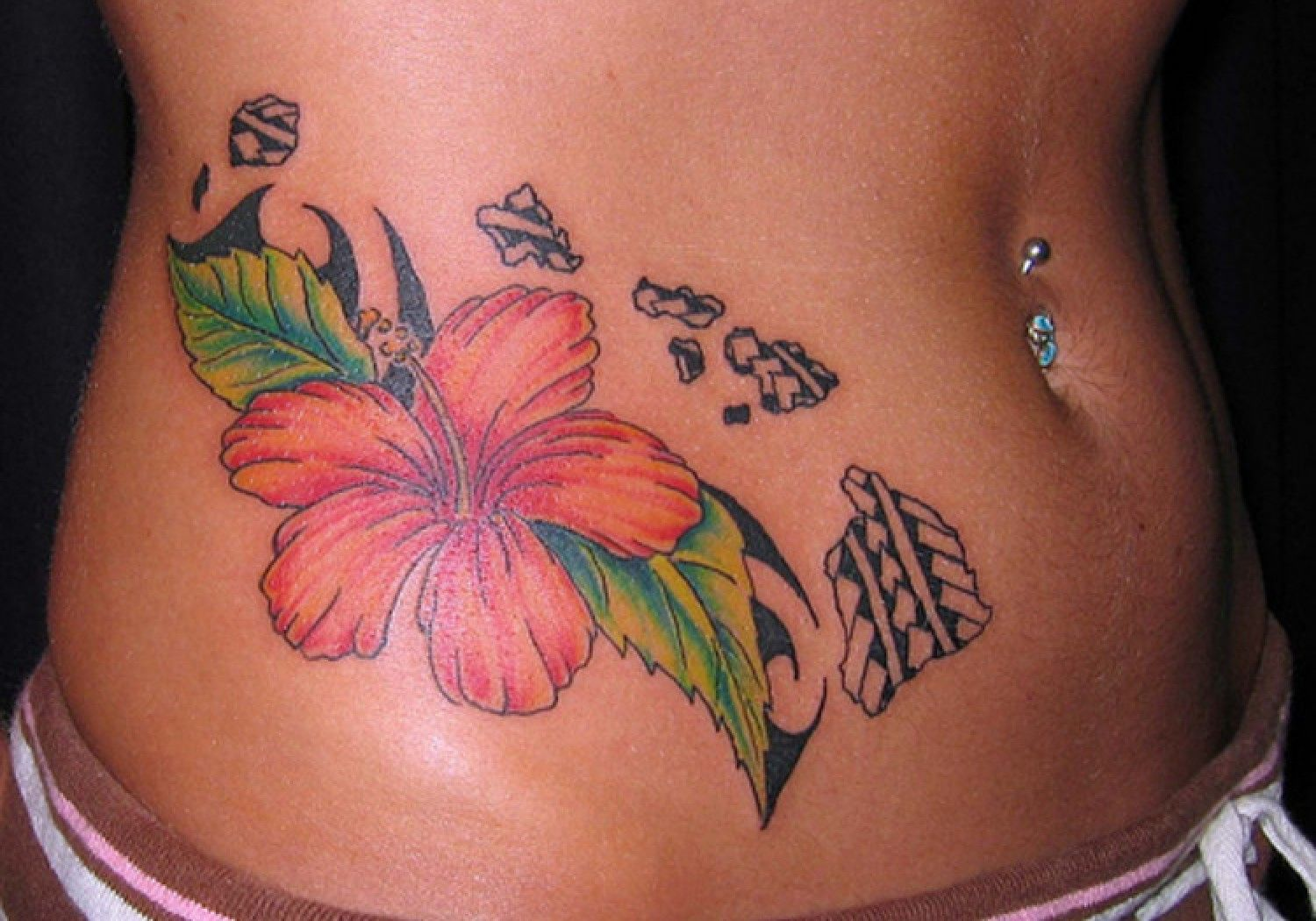 Hawaiian flower tattoo sleeve google search tats pinterest hawaiian flower tattoo sleeve google search izmirmasajfo