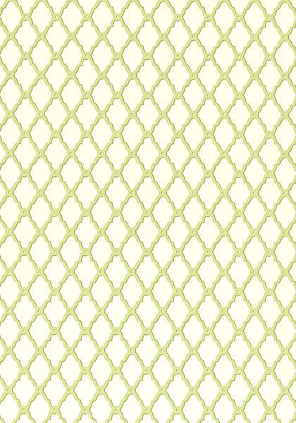 Rothbury Trellis Wallpaper In Green From The Geometric