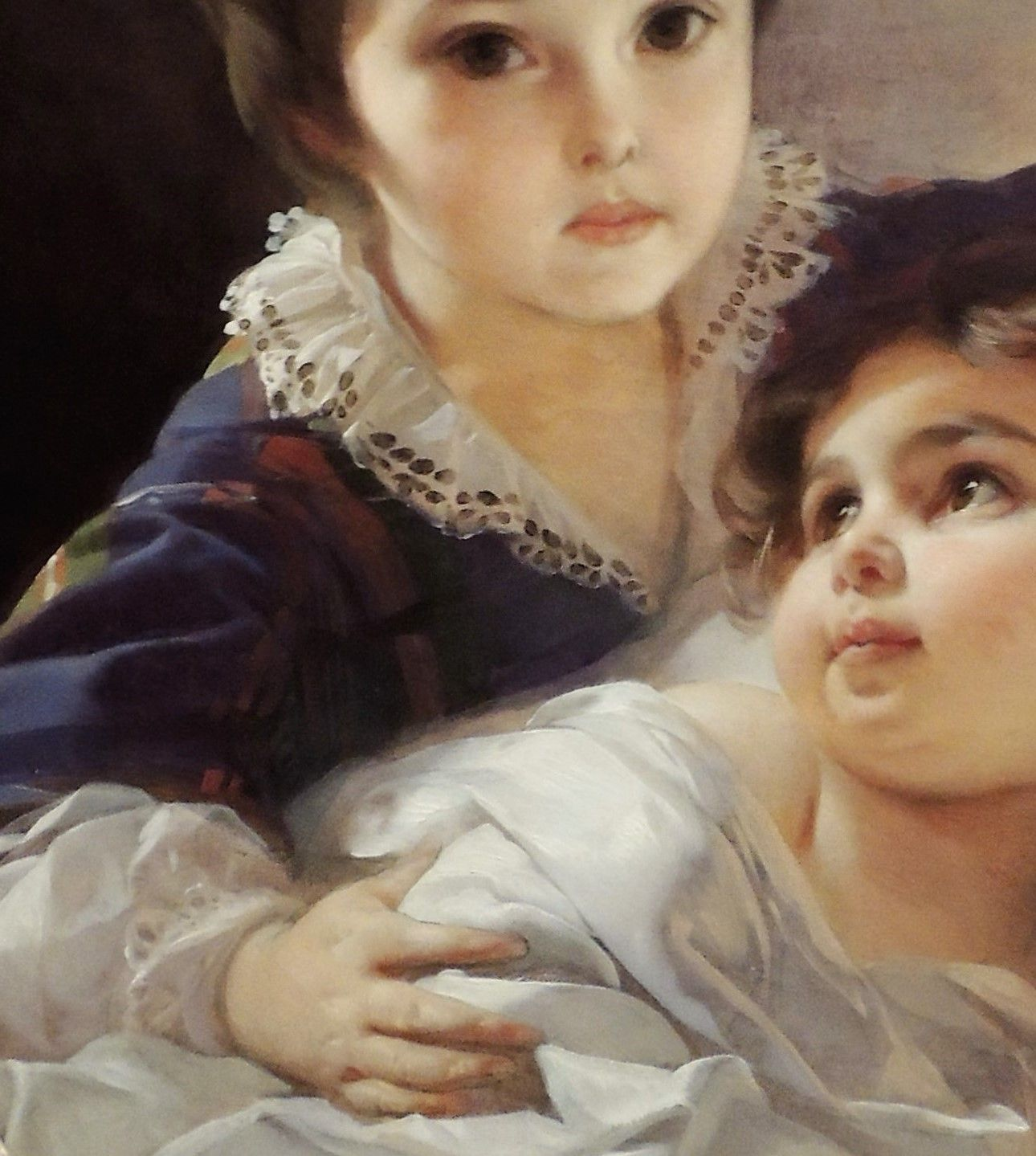 Two children of Tolstoy family by Ivan Makarov - Click to enlarge