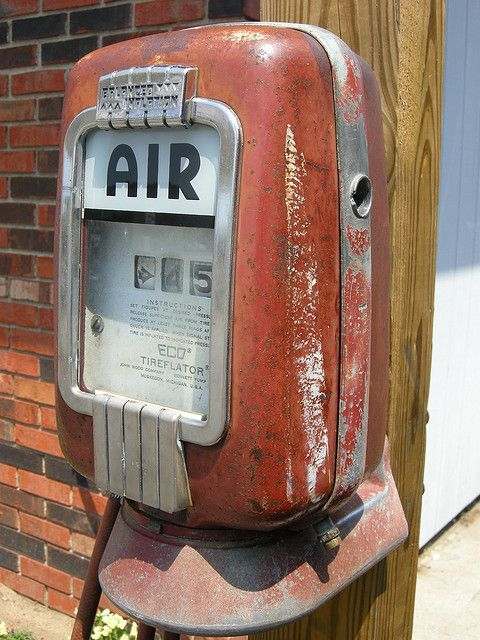 gas station with air pump. forget forgot forgotten - old gas station air pump with