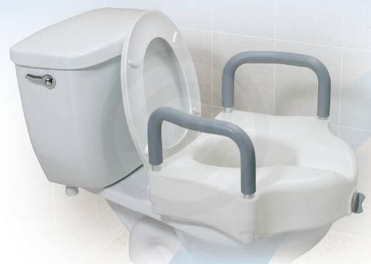 Drive Medical Locking Elevated Toilet Seat With Arms With Images